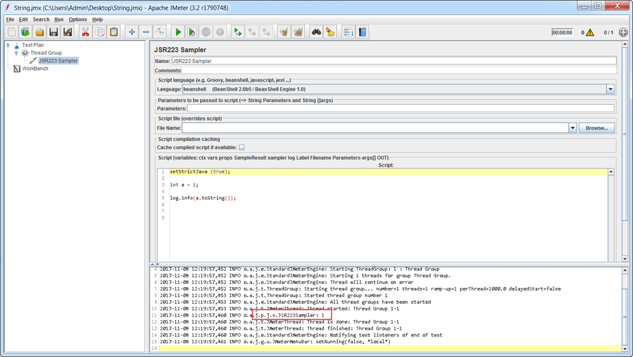 jmeter, converting variables to strings