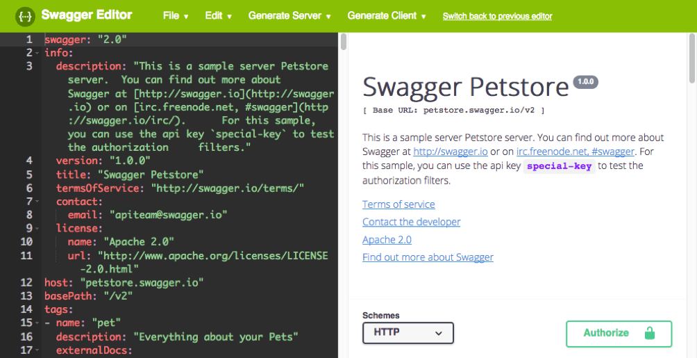 how to use the Swagger Editor