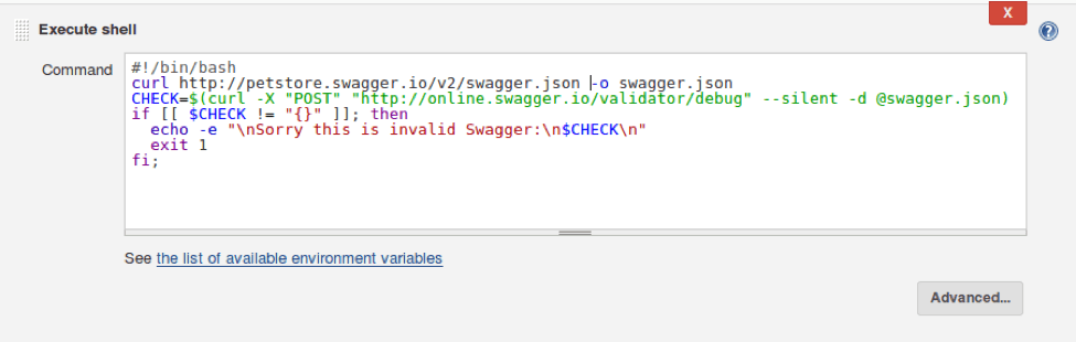 swagger and open api testing in jenkins