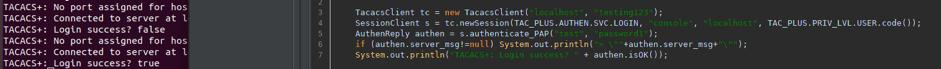 scripting in JMeter for TACAS+