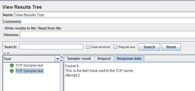 view results tree listener jmeter for tcp sampler