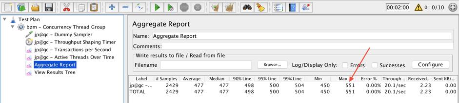 running threads for rps testing, jmeter