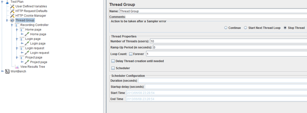 thread configuration stress test jmeter
