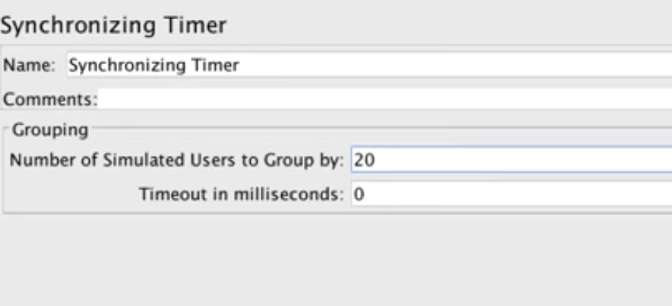 synchronizing timer on jmeter