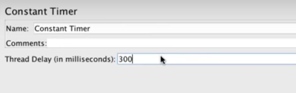 constant timer on jmeter