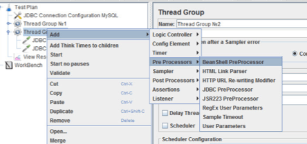 assigning variables to thread groups, jmeter