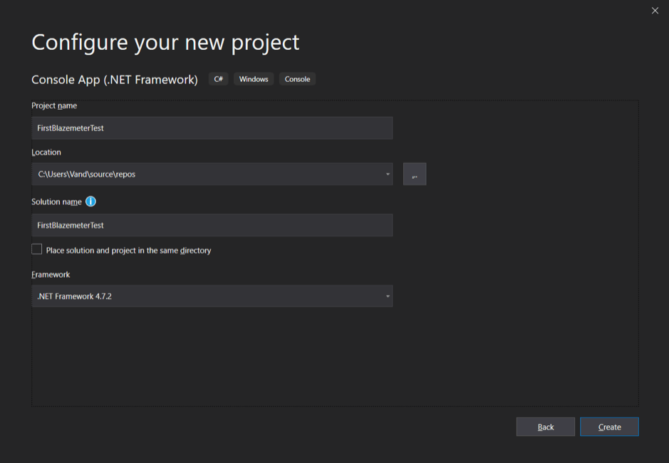 Testing with BlazeMeter and Visual Studio