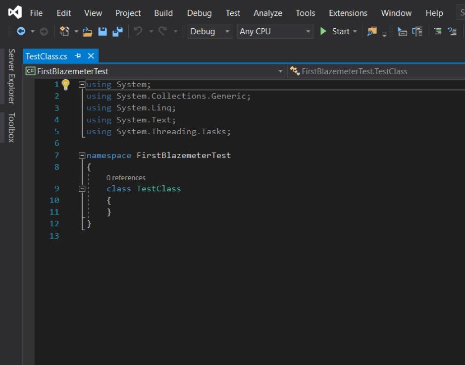 BlazeMeter testing with Visual Studio