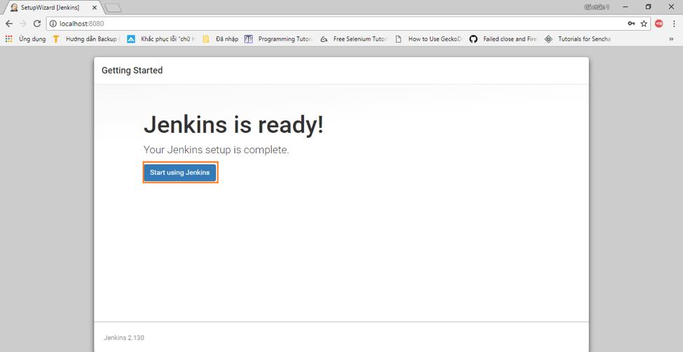 start using jenkins
