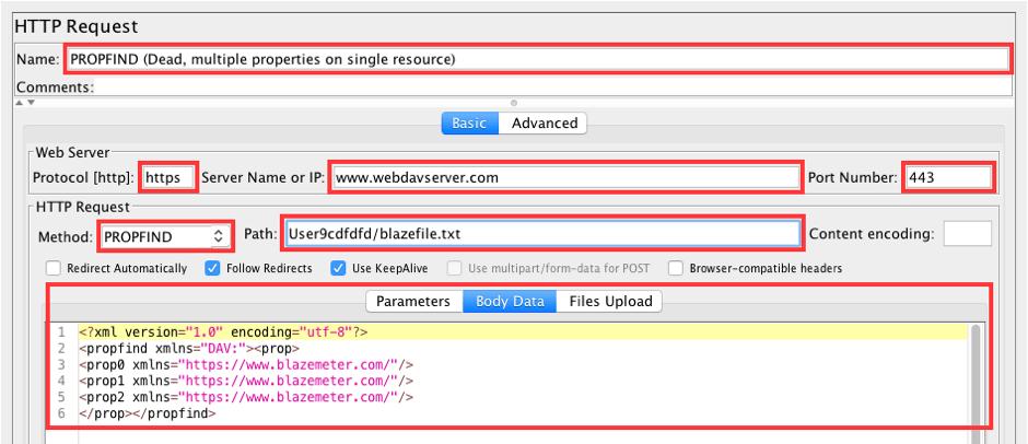 jmeter webdav load testing