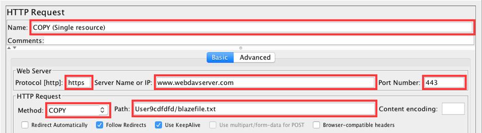 jmeter, load testing, webdav servers