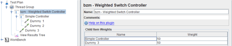 learn to use jmeter's weighted switch controller