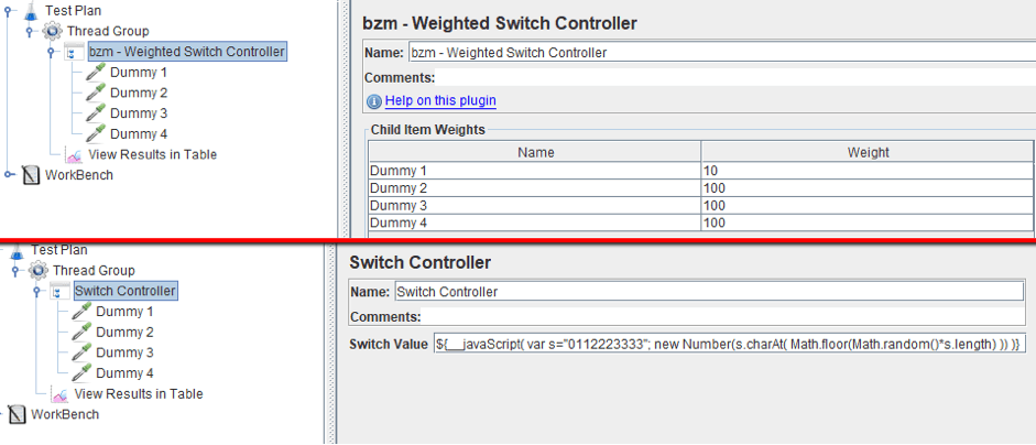 learn how to run jmeter's weighted switch controller