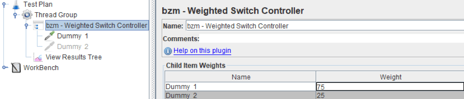 guide for using the weighted switch controller