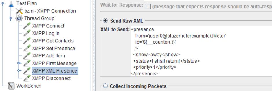 jmeter xmpp load testing