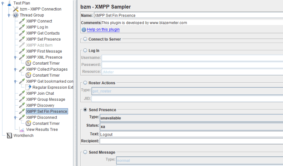 load testing xmpp jmeter open-source