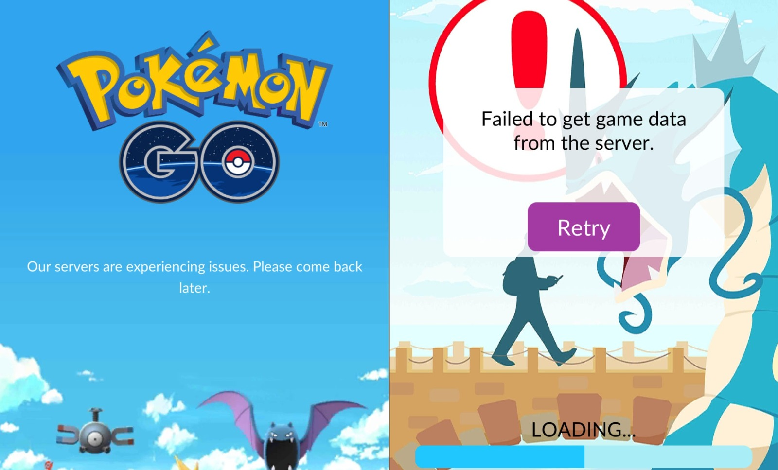 Pokemon GO servers down