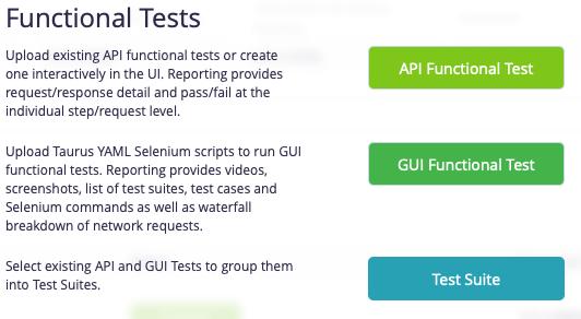GUI Functional Testing Menu