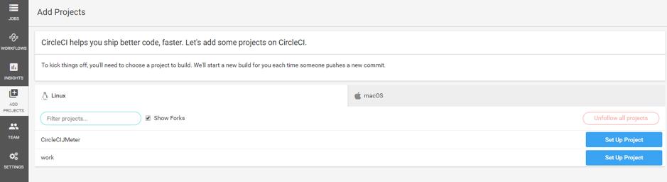 CircleCI in JMeter