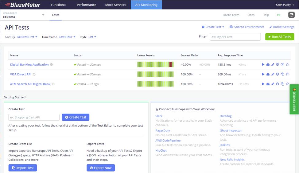 API Monitoring with BlazeMeter