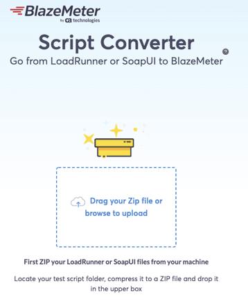 blazemeter script converter