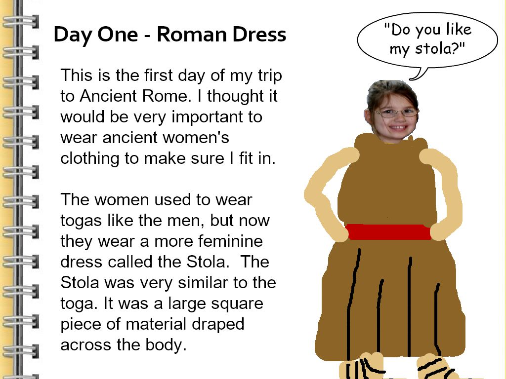wixie journal entry from ancient rome