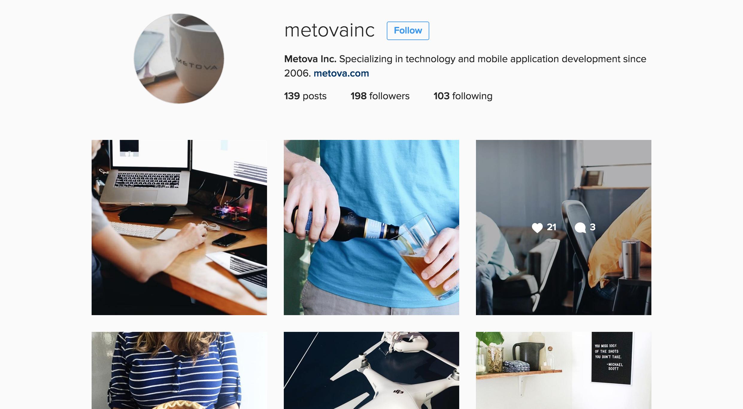 design inspiration from metovas instagram