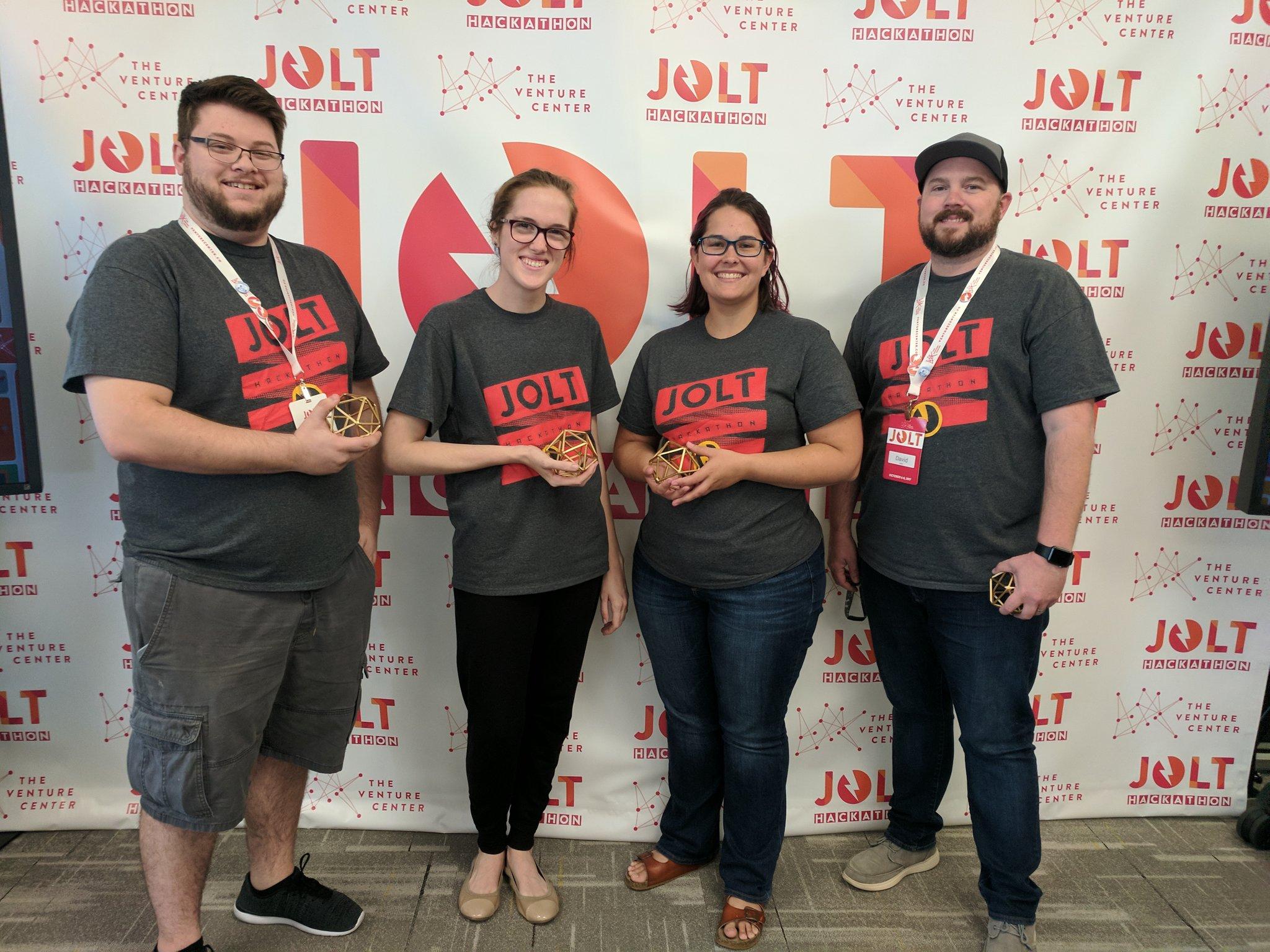 Jolt Hackathon Game Master's Choice Award Winners