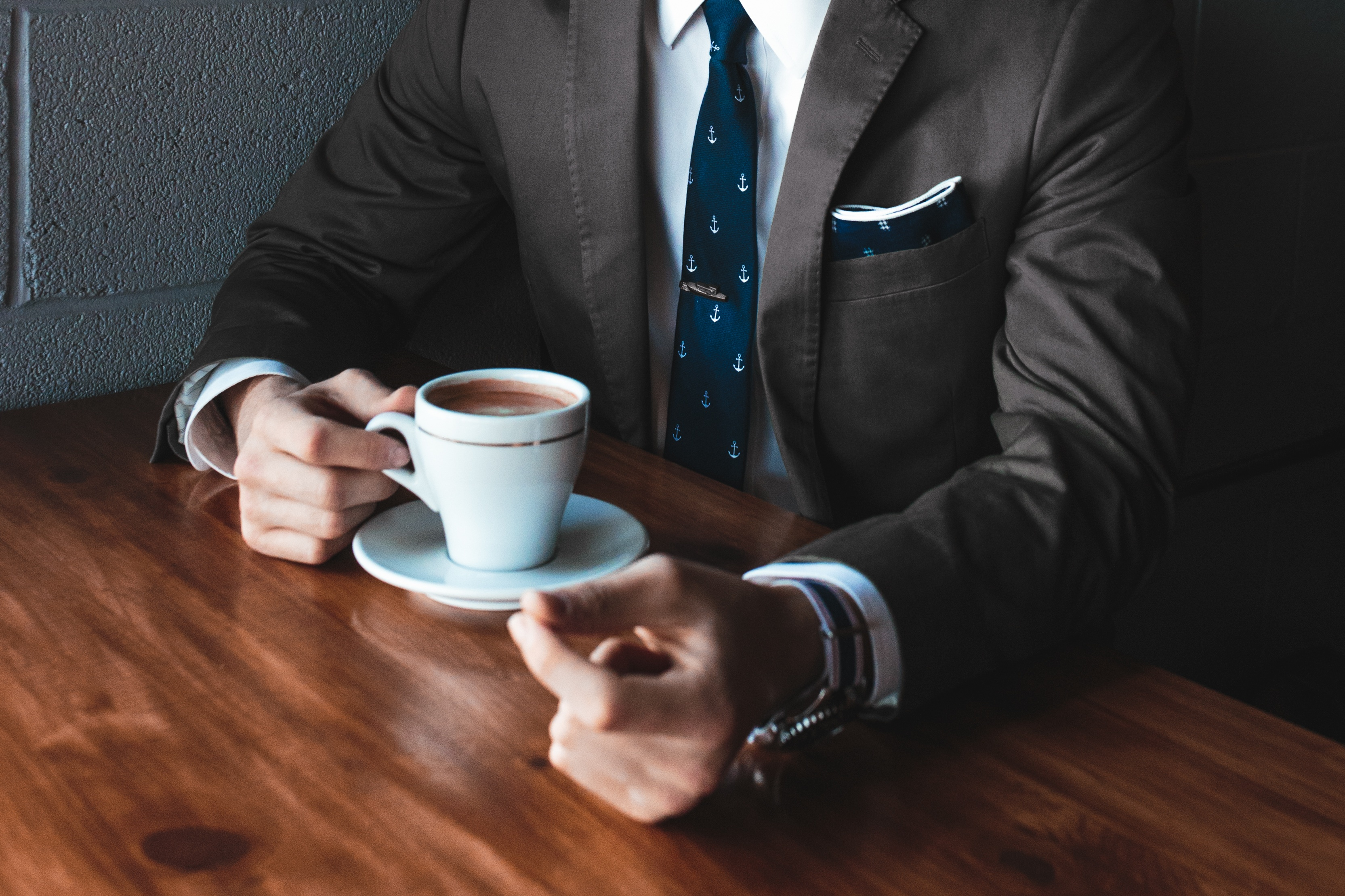 suit-wearing coffee-drinking buyer persona