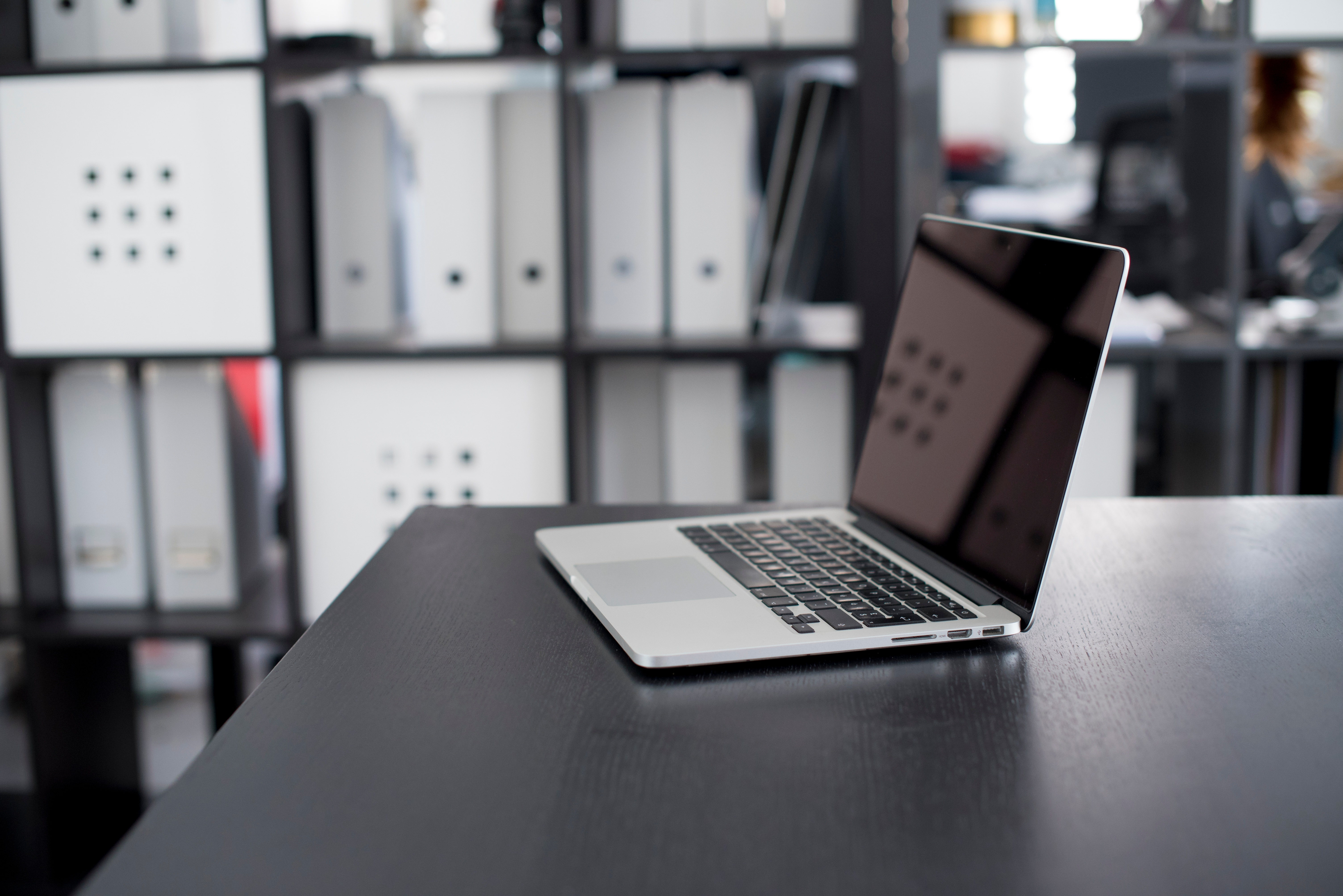 unsecure laptop on desk