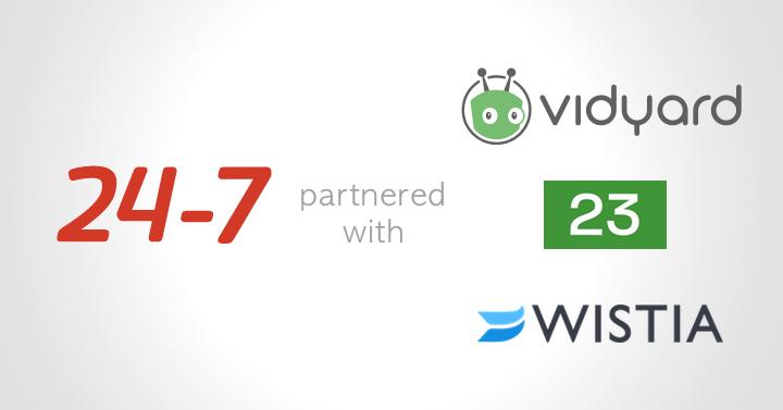 24-7、企業向け動画マーケティングプラットフォーム3社とパートナー契約を締結