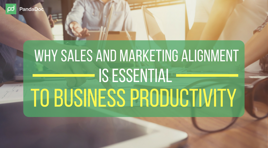 Why sales and marketing alignment is essential to business productivity
