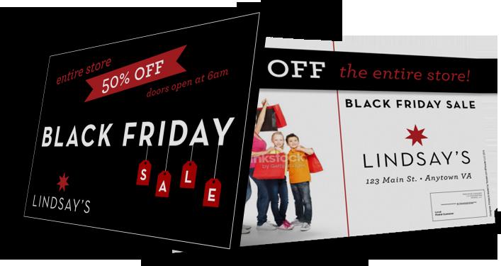 Black Friday Marketing Postcard