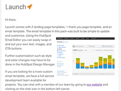 Launch hubspot launch email launch email email template maxwellsz
