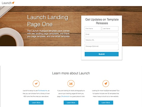 Marketplace HubSpot - About page template