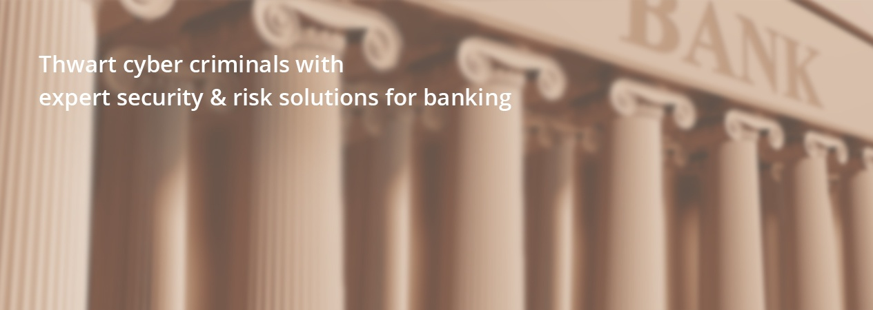 Thwart cyber criminals with expert secutity & risk solutions for banking.