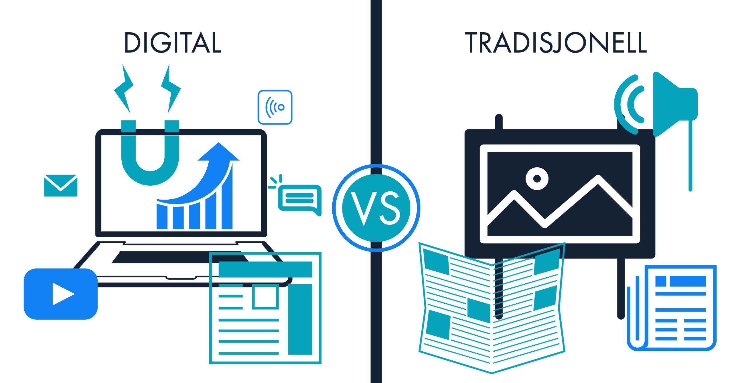 Hva er digital markedsføring og hva er forskjellen fra ...