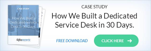 Built Dedicated Service Desk 30 Days Case Study
