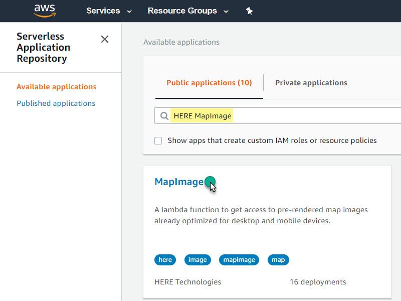 serverless application repository