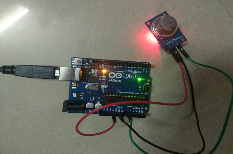 Arduino and Air Qaulity Sensor Setup
