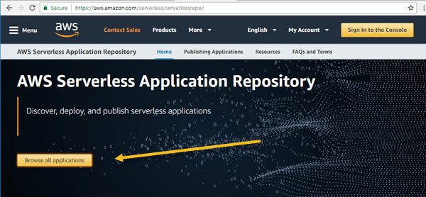 AWS Serverless Application Browse