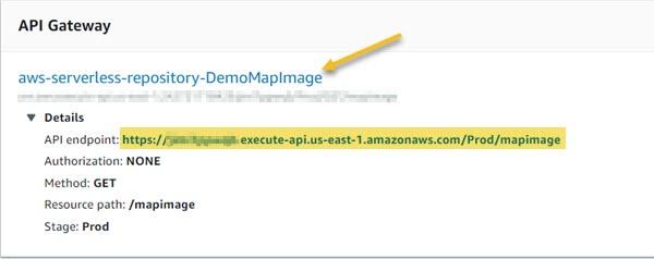 API Gateway details