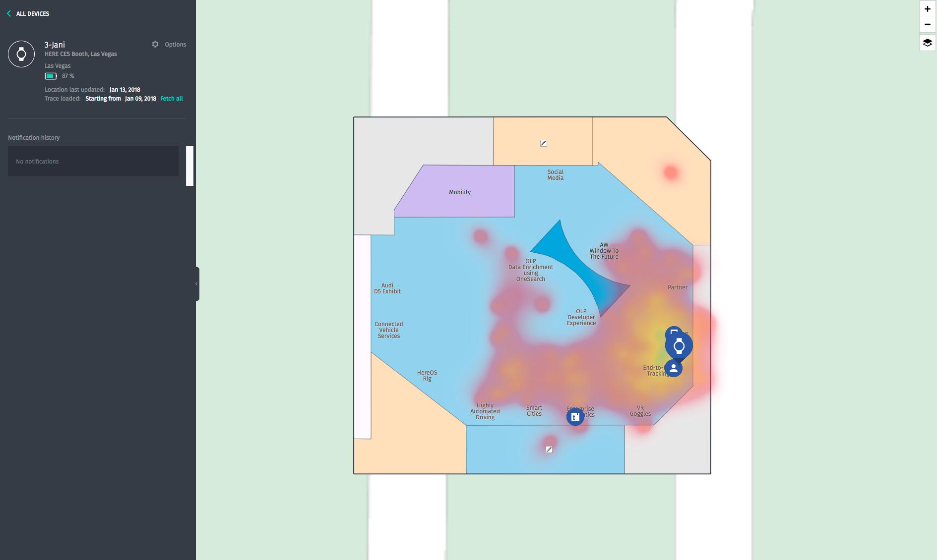CES Booth heatmap