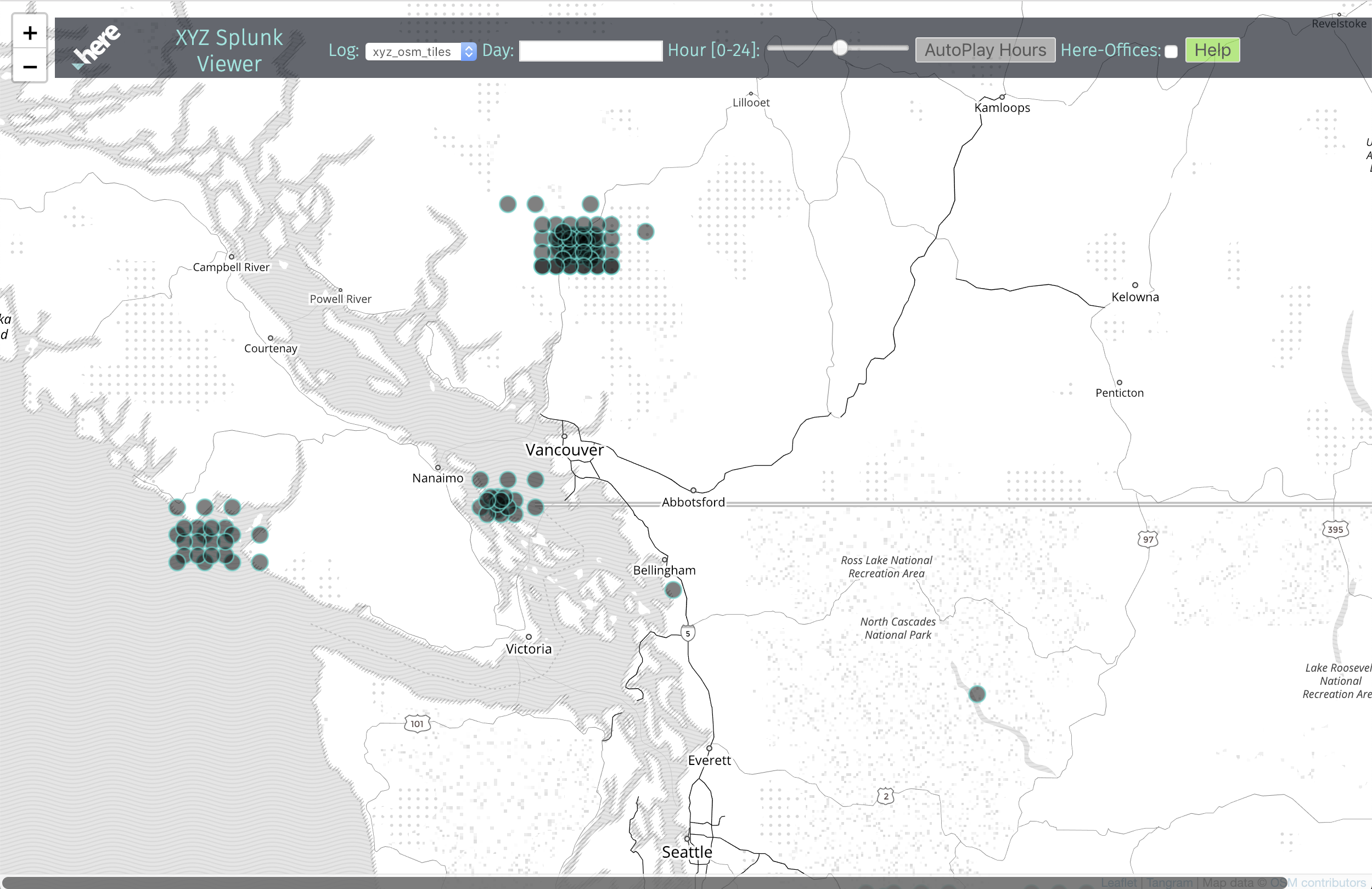Visualizing Service Usage from Splunk Logs on a Map - HERE