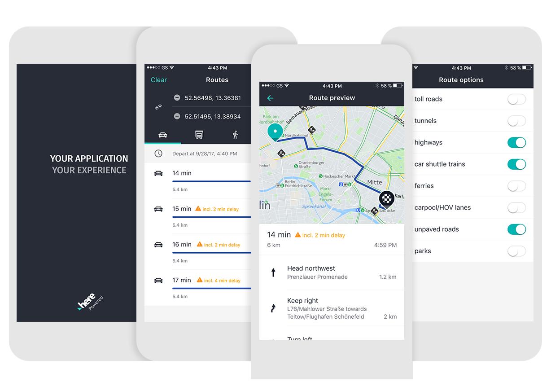 The Mobile SDK UI Kit v2 0, Now With Navigation - HERE Developer