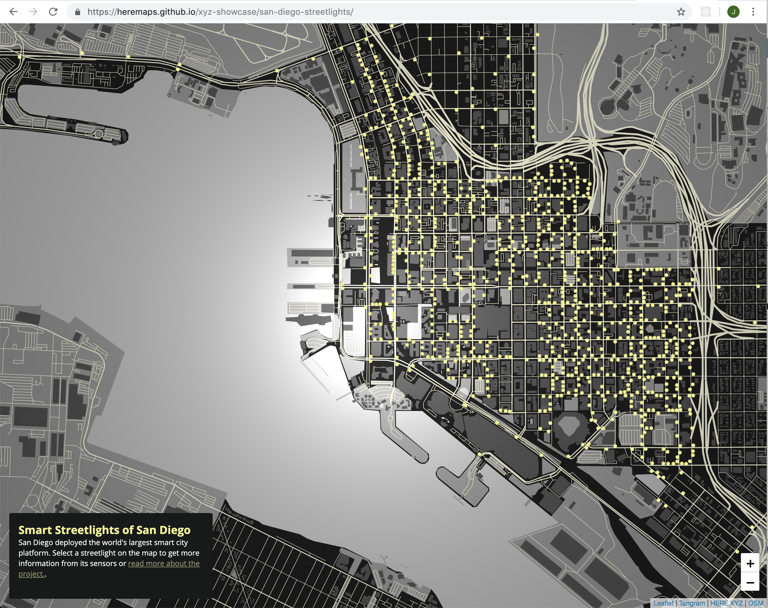How to Render a Map of San go's Smart City Streetlights ... Map Of Or With Cities on map of cities fl, map of cities mt, map of cities va, map of cities ar, map of cities tn, map of cities france, map of cities united states, map of cities ms,