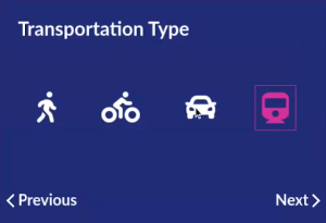 Selection of transportation type