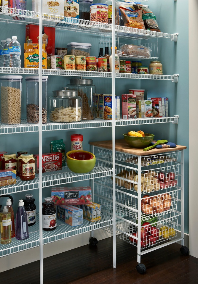 Perfect Pantries With Wire Shelving