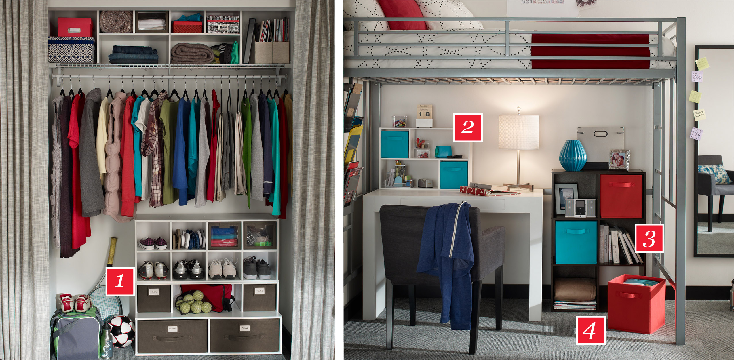 dorm room storage ideas - Closetmaid Design Ideas