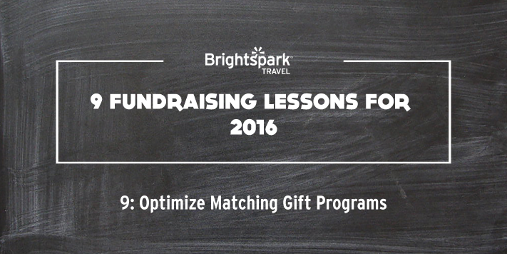 9 Fundraising Lessons | No. 9 Optimize Matching Gift Programs